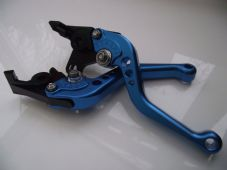 Hyosung GT650R (06-09), CNC levers short blue/chrome adjusters, F8/H8